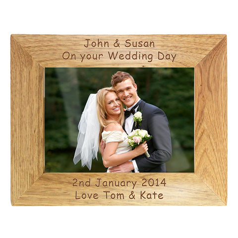Buy Personalised Landscape Wooden Photo Frame 7x5