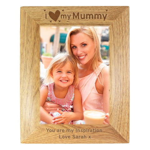 Buy Personalised I Heart My... 5x7 Wooden Photo Frame