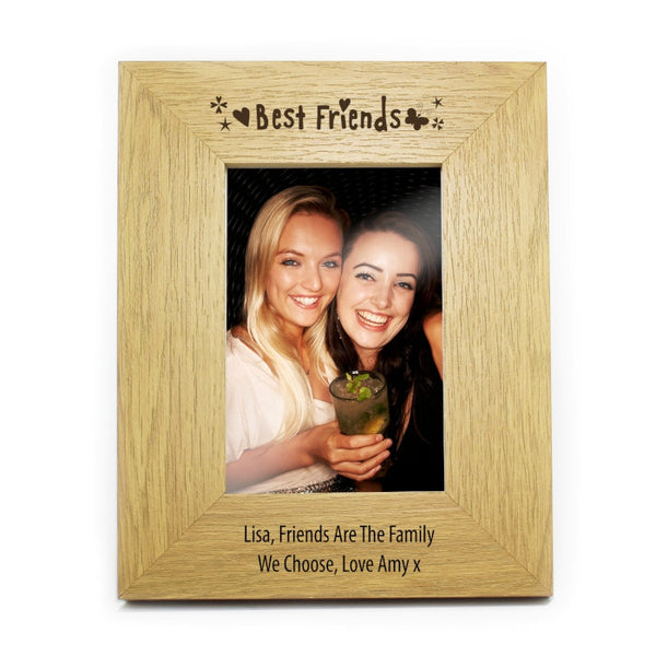 personalised-best-friends-6x4-wooden-photo-frame