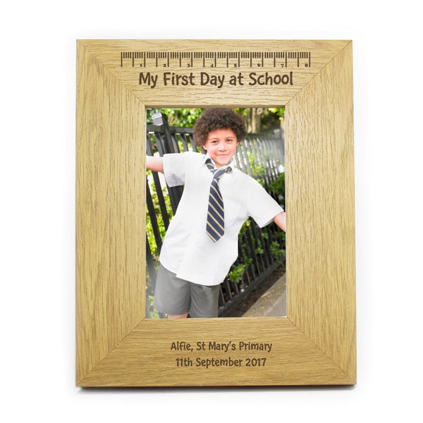 personalised-my-first-day-at-school-6x4-wooden-frame