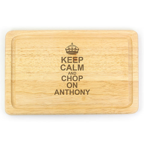 Personalised Keep Calm & Chop On Large Chopping Board - Shane Todd Gifts UK