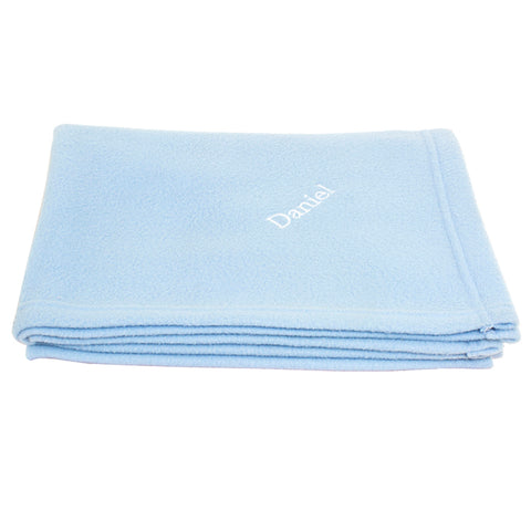 Buy Personalised Blue Baby Blanket