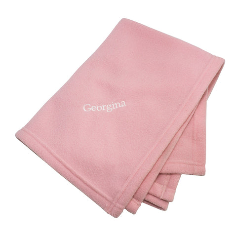 Buy Personalised Pink Baby Blanket