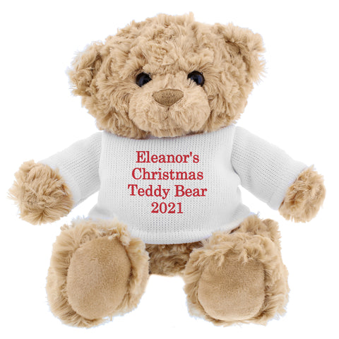 Personalised Christmas Message Bear - Shane Todd Gifts UK
