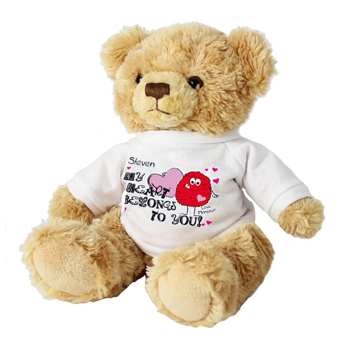 Personalised Monster Heart Message Bear, Toys & Games by Low Cost Gifts