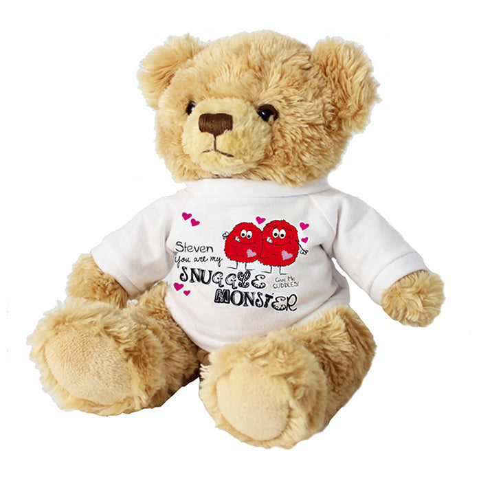 Personalised Snuggle Monster Message Bear