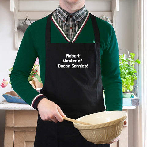 Personalised Black Apron - Shane Todd Gifts UK