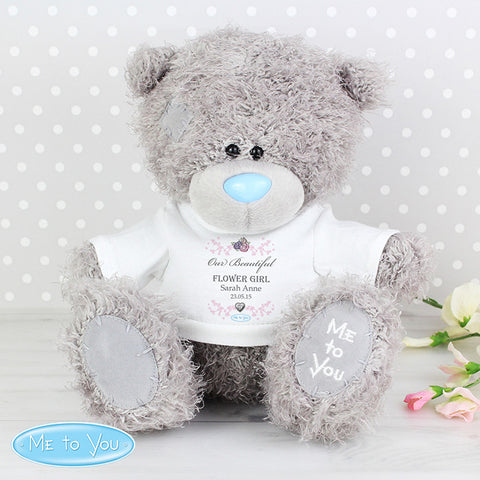 Personalised Me To You Flower Girl Teddy with T-Shirt - Shane Todd Gifts UK