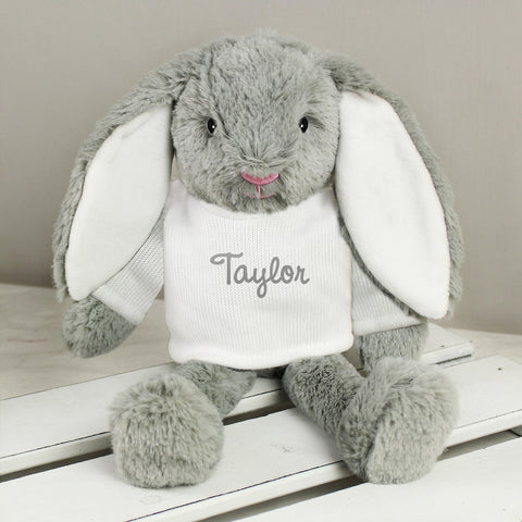 Buy Personalised Name Only Bunny - Brown Embroidery