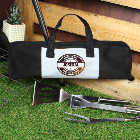Buy Personalised Stamp Stainless Steel BBQ Kit