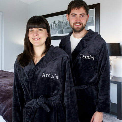 Personalised Name Unisex Luxury Hooded Robe