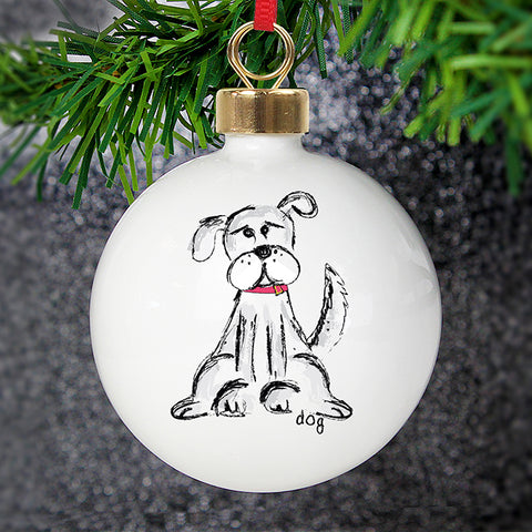 Buy Personalised Dog Bauble