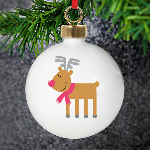 Personalised New Reindeer Bauble | ShaneToddGifts.co.uk