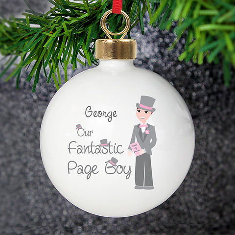 Personalised Fabulous Page Boy Bauble