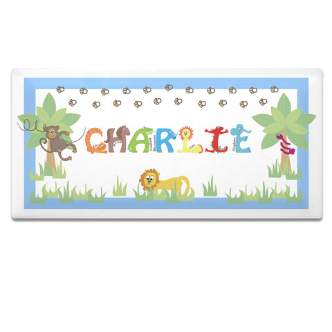 Buy Personalised Animal Alphabet Boys Door Plaque