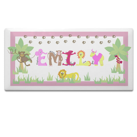Buy Personalised Animal Alphabet Girls Door Plaque