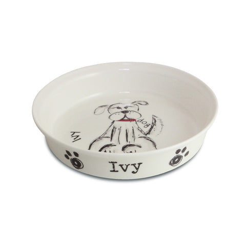 Buy Personalised Scribble Dog Bowl