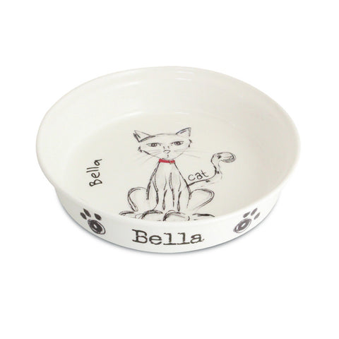 Personalised Scribble Cat Bowl | ShaneToddGifts.co.uk