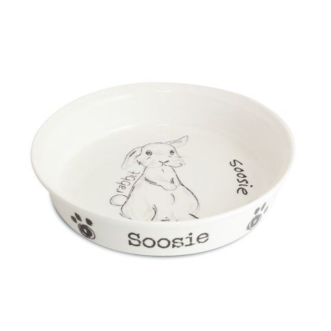 Personalised Scribble Rabbit Bowl | ShaneToddGifts.co.uk