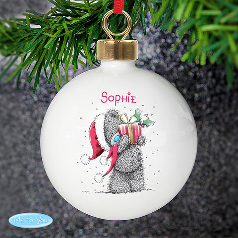 Buy Personalised Me To You Christmas Bauble