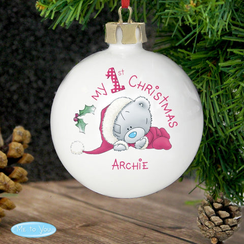 Buy Personalised Me To You My 1st Christmas Bauble
