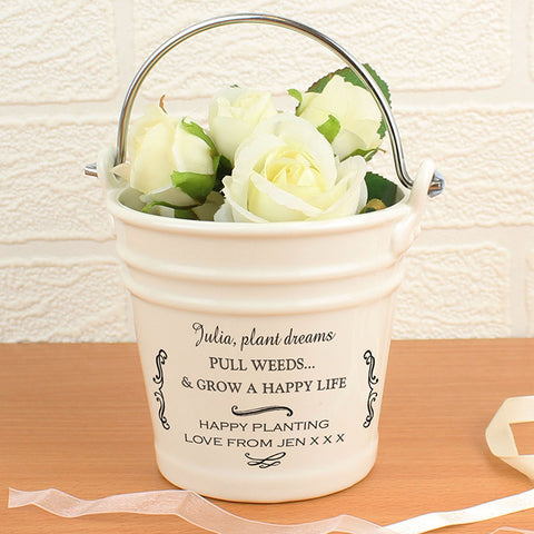 Personalised Antique Scroll Porcelain Bucket | ShaneToddGifts.co.uk