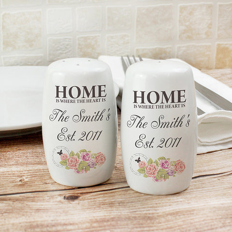 Buy Personalised Shabby Chic Salt and Pepper Set