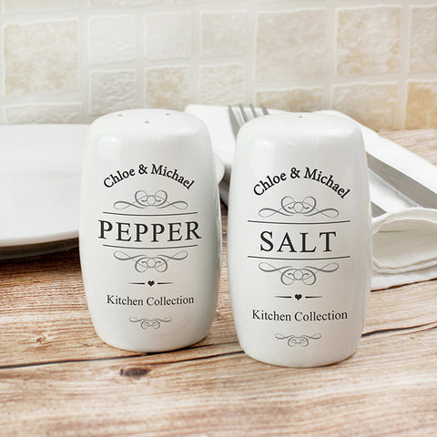 Buy Personalised Salt and Pepper Pots