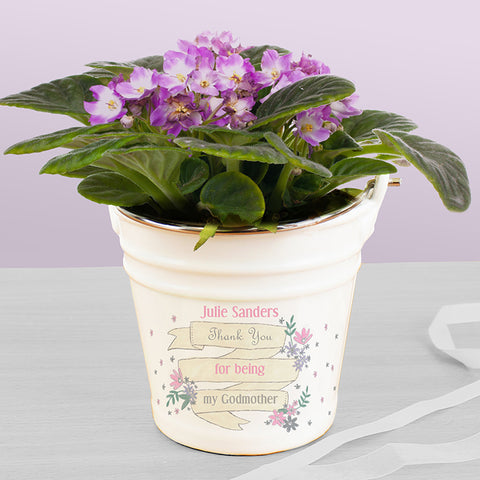 Buy Personalised Garden Bloom Porcelain Bucket