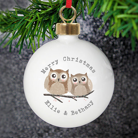 Personalised Woodland Owl Bauble | ShaneToddGifts.co.uk