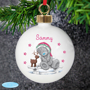 Personalised Me To You Reindeer Bauble
