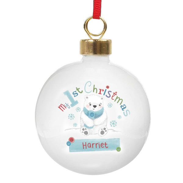 personalised-polar-bear-my-1st-chistmas-bauble