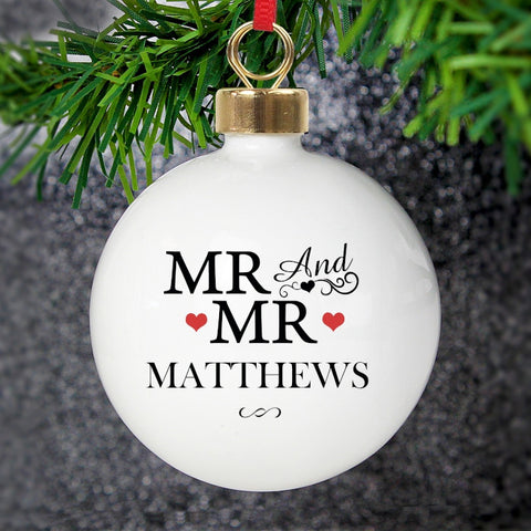 Personalised Mr & Mr Bauble | ShaneToddGifts.co.uk