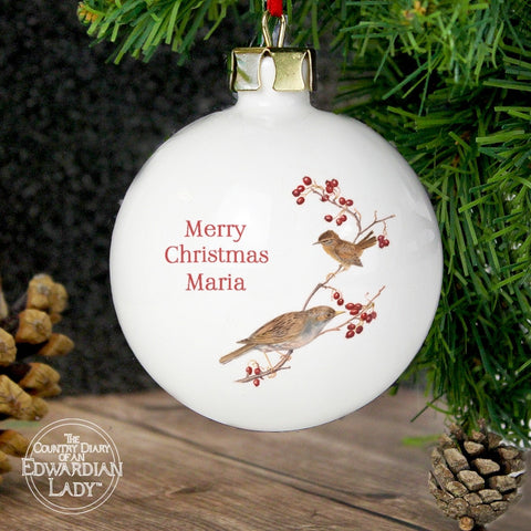 Personalised Country Diary Midwinter Bauble | ShaneToddGifts.co.uk