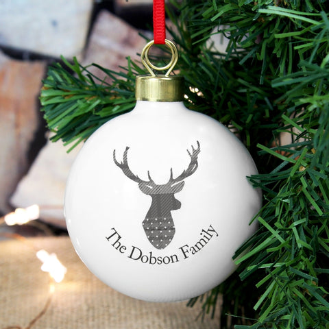 Buy Personalised Highland Stag Bauble