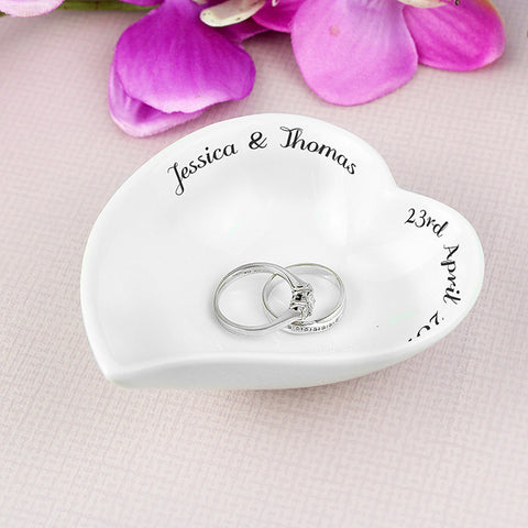 Buy Personalised Free Text Ceramic Ring Dish