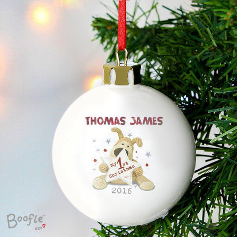 Personalised Boofle My 1st Christmas Bauble | ShaneToddGifts.co.uk