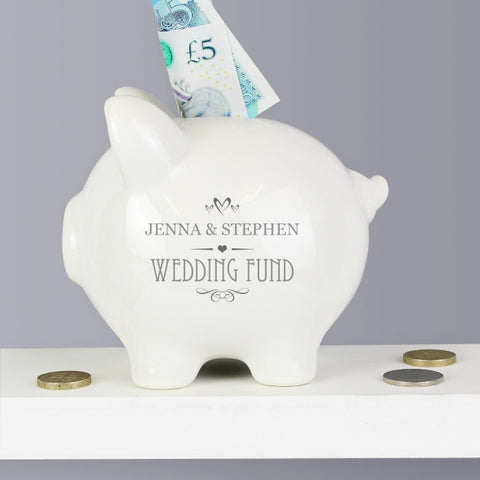 Buy Personalised Small Hearts Piggy Bank