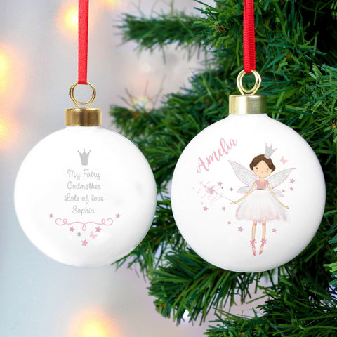Personalised Fairy Princess Bauble - Shane Todd Gifts UK