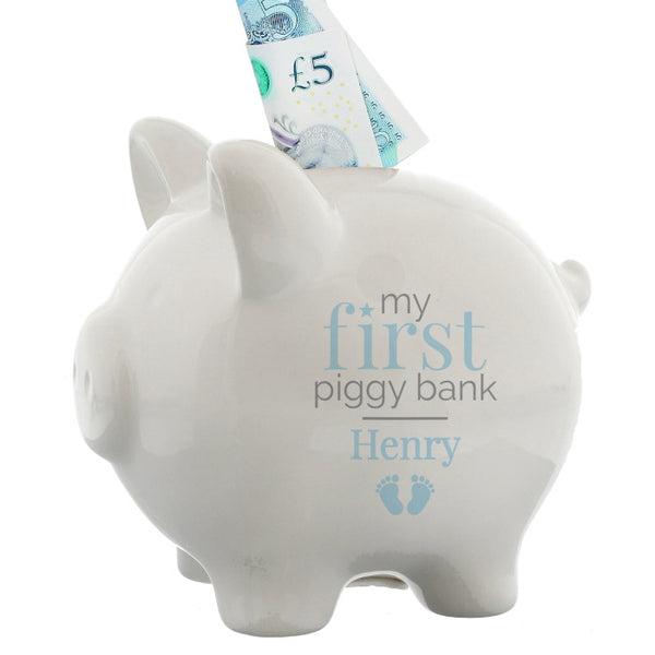 personalised-blue-my-first-piggy-bank