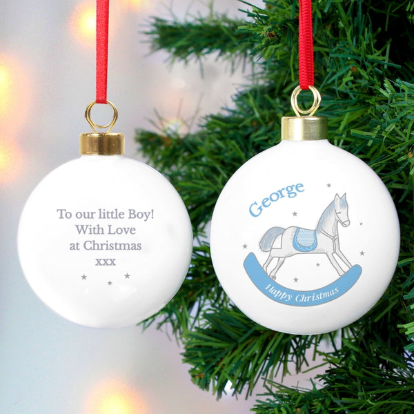 personalised-1st-christmas-blue-rocking-horse-bauble