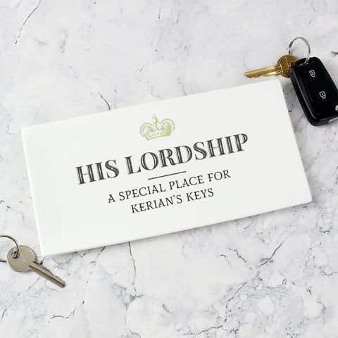 Buy Personalised His Lordship Ceramic Tray