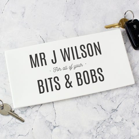 Buy Personalised Bits & Bobs Ceramic Tray