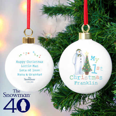 Buy Personalised The Snowman My 1st Christmas Bauble