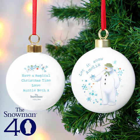 Buy Personalised The Snowman Let it Snow Bauble