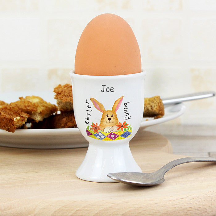 Easter gift ideas personalised gifts shanetoddgifts personalised easter bunny egg cup shane todd gifts uk negle Images