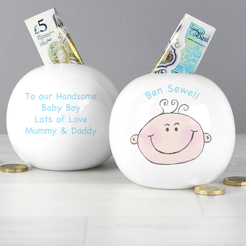 Buy Personalised Baby Boy Money Box