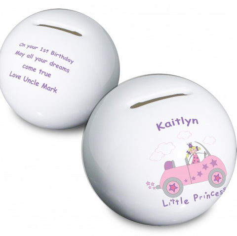 Buy Personalised Little Princess in Car Money Box