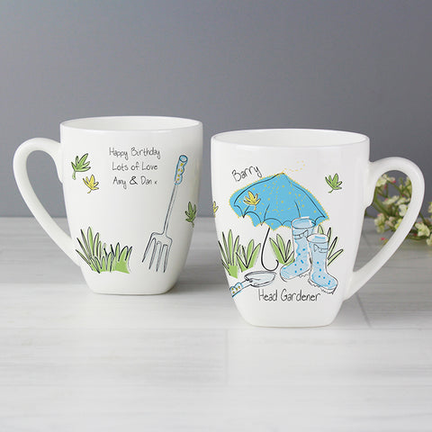 Buy Personalised Blue Umbrella Mug
