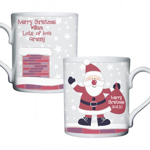 Buy Personalised Roof Top Santa Mug